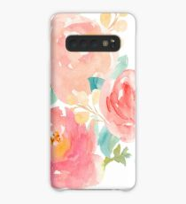 Peonies Watercolor Bouquet Case/Skin for Samsung Galaxy