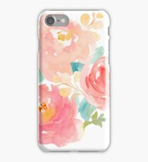 Peonies Watercolor Bouquet iPhone Case/Skin