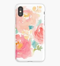 Peonies Watercolor Bouquet iPhone Case