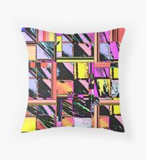 Abstract Color Squares Throw Pillow