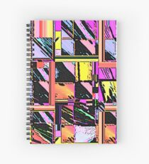 Abstract Color Squares Spiral Notebook