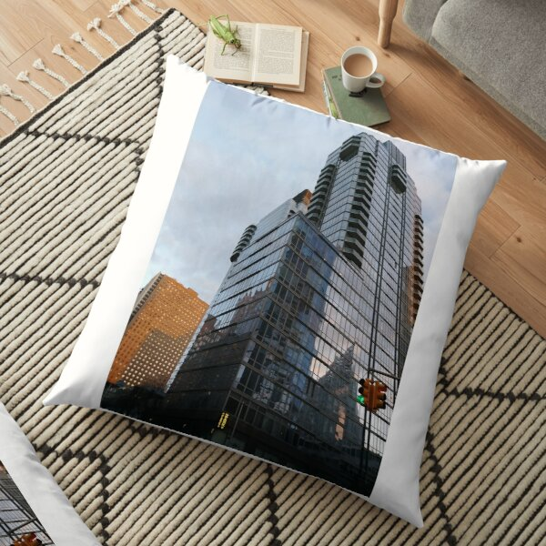 New York, Manhattan, New York City, Skyscraper, tower block, high rise building, tower, block, high rise, building Floor Pillow