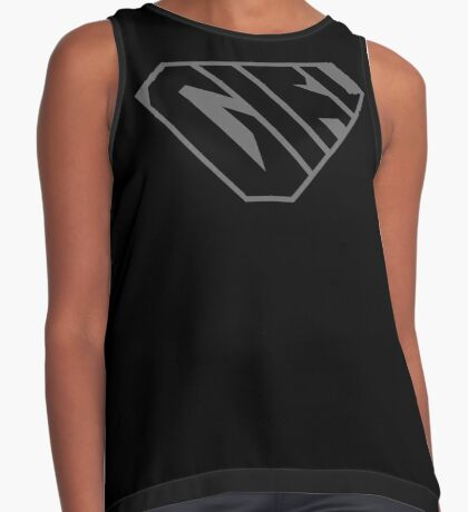 Girl SuperEmpowered (Black on Black) Contrast Tank