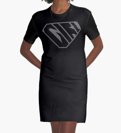 Girl SuperEmpowered (Black on Black) Graphic T-Shirt Dress