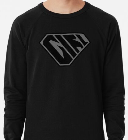 Girl SuperEmpowered (Black on Black) Lightweight Sweatshirt