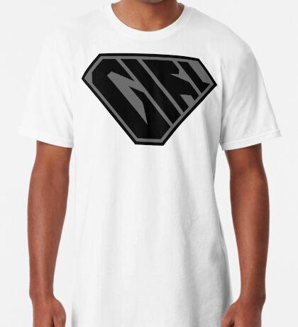 Girl SuperEmpowered (Black on Black) Long T-Shirt