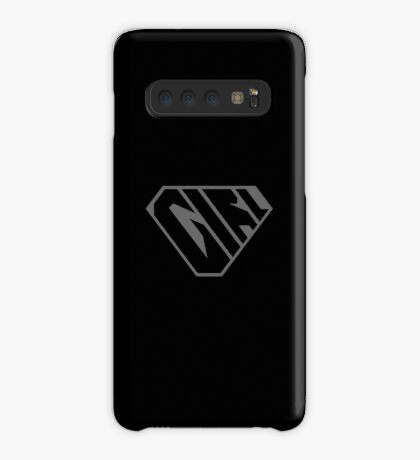 Girl SuperEmpowered (Black on Black) Case/Skin for Samsung Galaxy