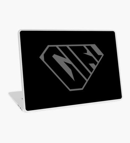Girl SuperEmpowered (Black on Black) Laptop Skin