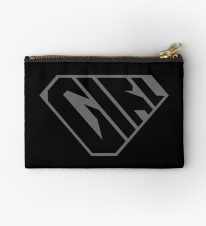 Girl SuperEmpowered (Black on Black) Zipper Pouch