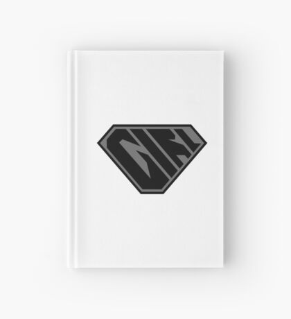 Girl SuperEmpowered (Black on Black) Hardcover Journal
