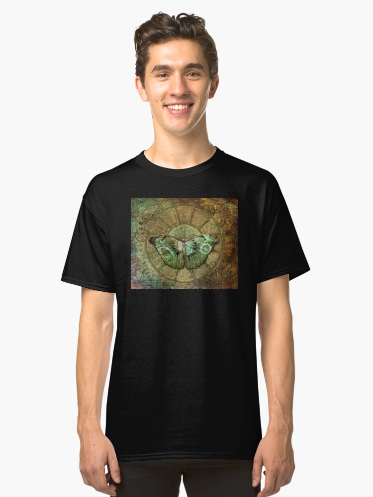 Alternate view of Steampunk Butterfly Classic T-Shirt