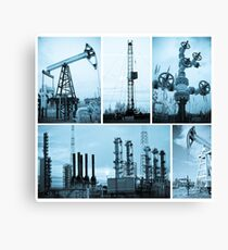 Oil industry. Oil extraction. Canvas Print