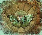 Steampunk Butterfly Distressed by RetroArtFactory