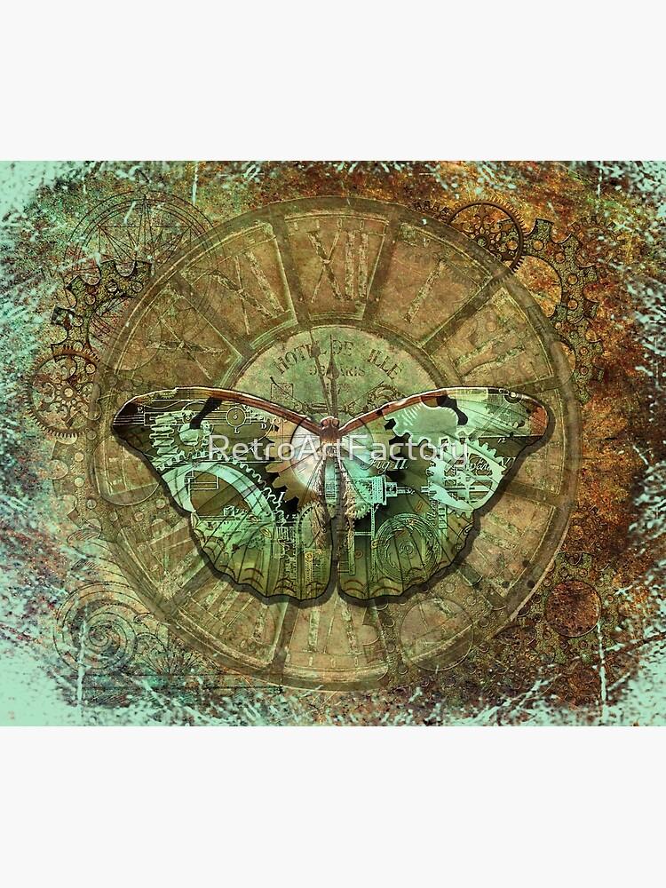 Steampunk Butterfly Distressed by RetroArtFactory