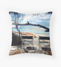 Chairs with ocean view Throw Pillow