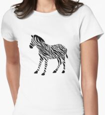 Zebra Women's Fitted T-Shirt