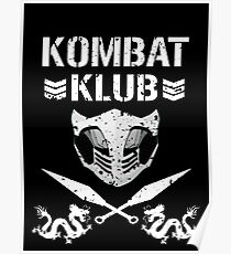 "Mortal Kombat ""Kombat Klub"" Poster"