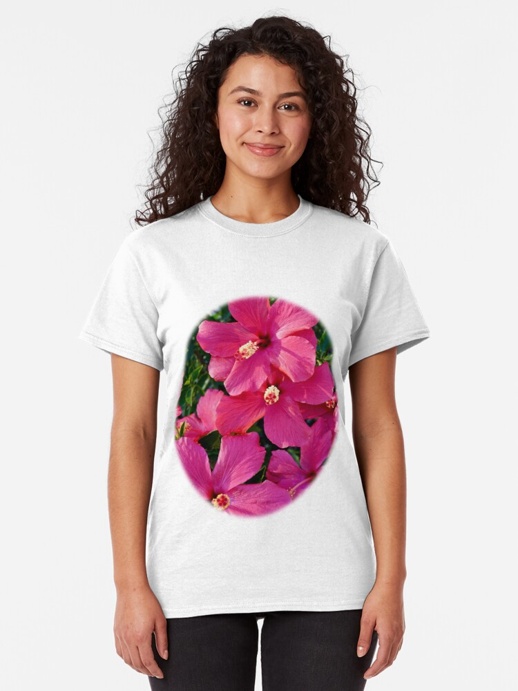 Alternate view of Hibiscus Flowers Classic T-Shirt