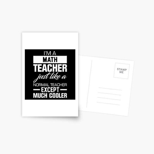 Math Teacher Postcard