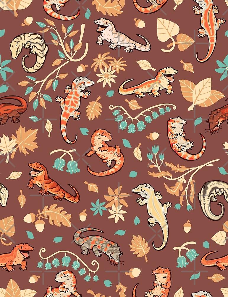 Herbstgeckos in Hellbraun von Colordrilos
