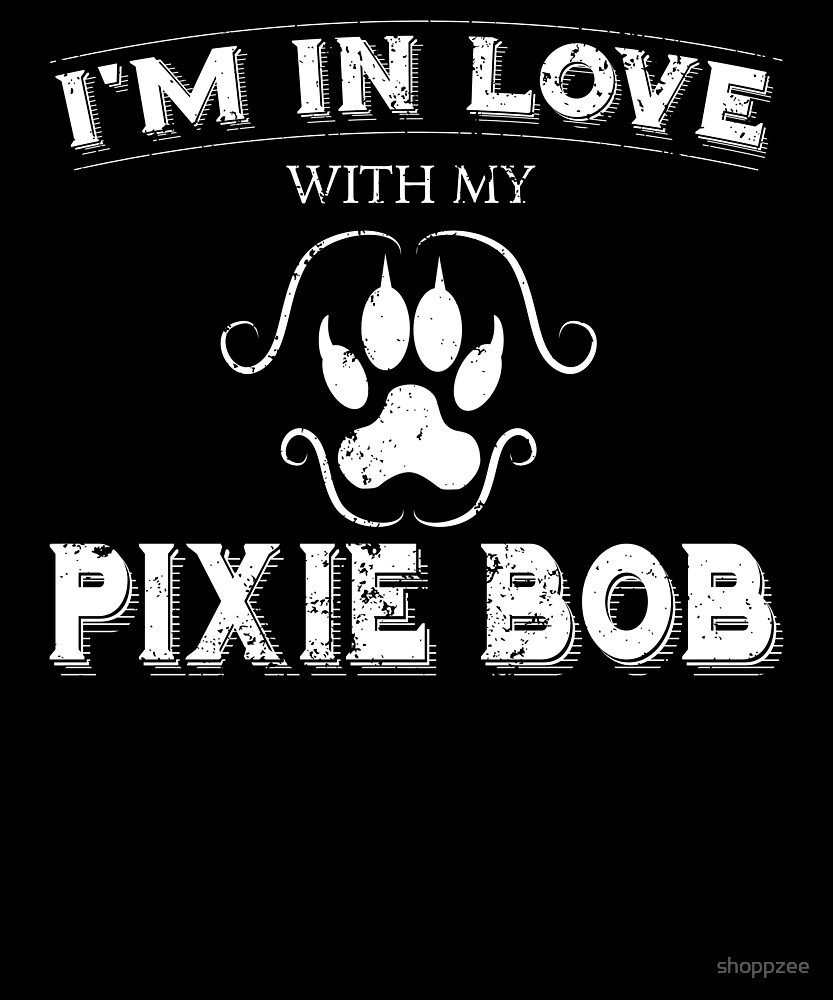 Anti Valentines Love Pixie Bob Cat Funny Cat Owner by shoppzee