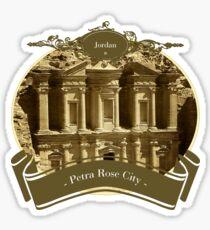 Jordan - Petra Rose City Sticker