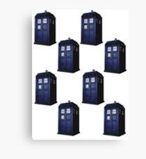 The Tardis Doctor Who Canvas Print