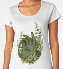 Psychic Hand - Surreal Illustration by Chrysta Kay Women's Premium T-Shirt