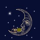 Camping RVing on The Moon by SportsT-Shirts