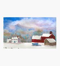 Winter Farm Photographic Print