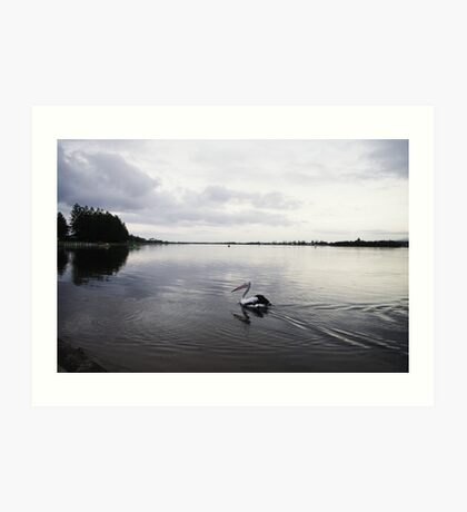 Waterscape: Pelicans think Windang is a fisherman's paradise II Art Print