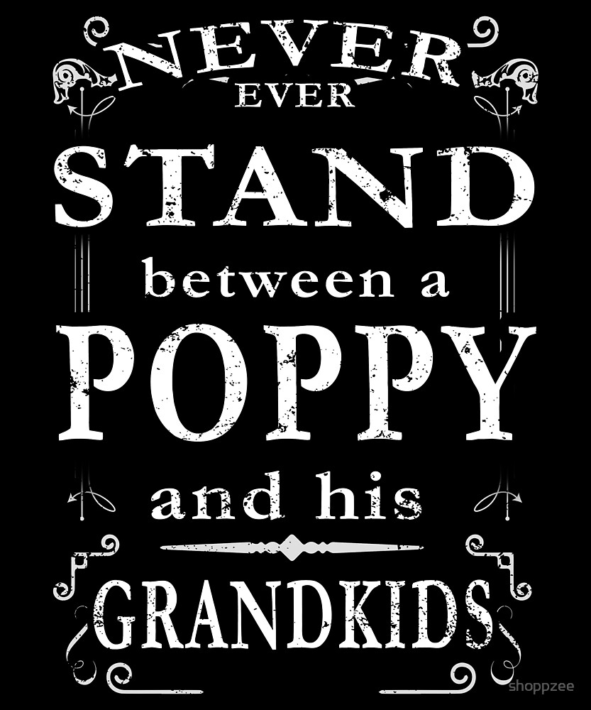 Never Stand Between Poppy Grandkids by shoppzee