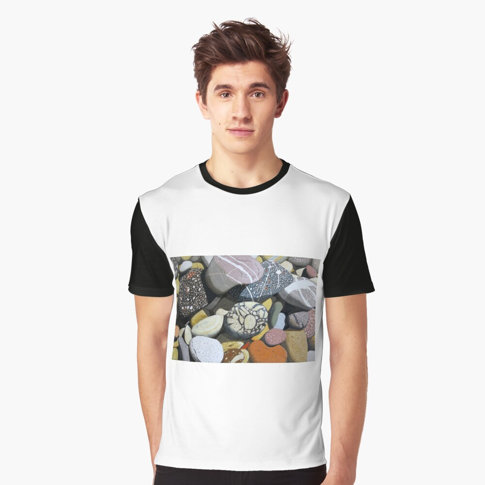 Coastal Rocks Graphic T-Shirt