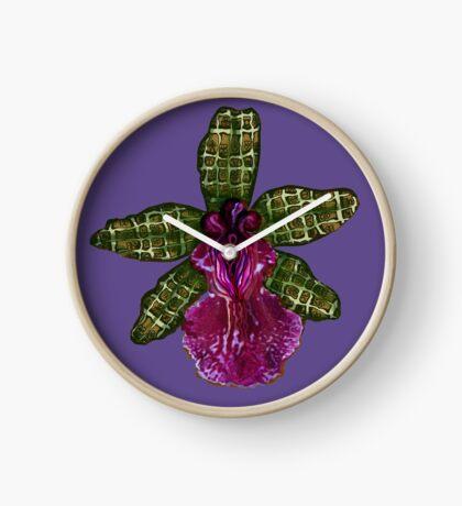 Pinque and Purrple Clock
