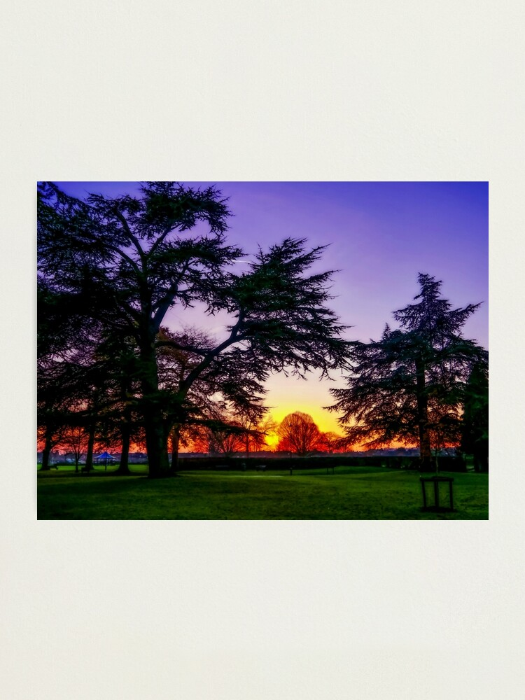 Alternate view of  Sunset landscape Photographic Print