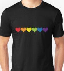 Camiseta ajustada Corazones del orgullo