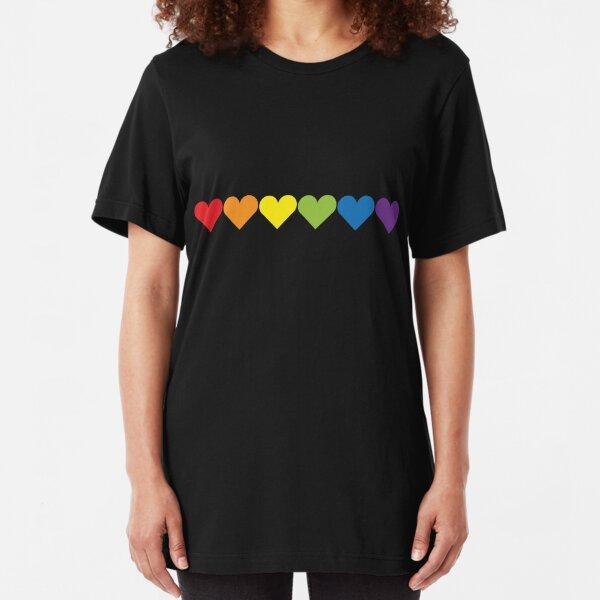 Corazones de orgullo Camiseta ajustada