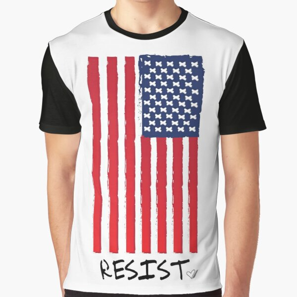 Resist (With Flag) -Graphic T-Shirt Graphic T-Shirt