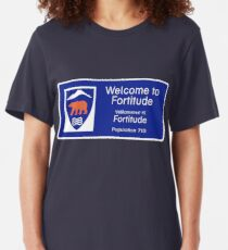 Welcome to Fortitude Sign - Fortitude T-shirt Slim Fit T-Shirt