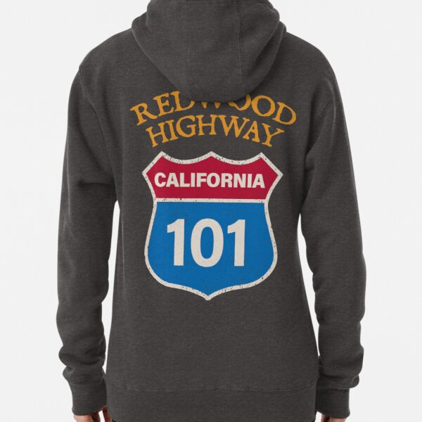 Thoughtful Redwood Highway Graphic Design Shirts Pullover Hoodie