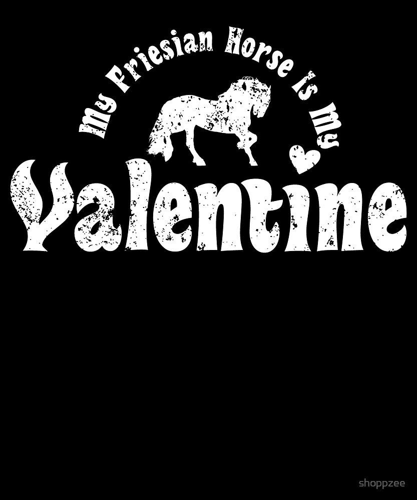 My Anti Valentine Friesian Horse by shoppzee