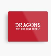 Dragons Are The Best People Metal Print
