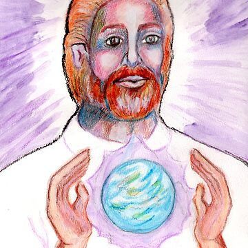 Saint Germaine Visualizes the Violet Flame around the Earth by Anne2018