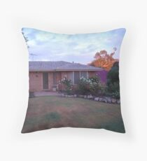 The rising sun is about to hit our house Throw Pillow