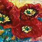 Drei Mohnblumen von Lena Owens @OLena Art von OLena  Art ❣️