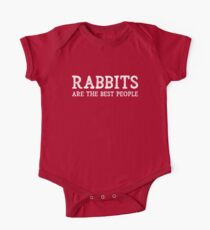 Rabbits Are The Best People One Piece - Short Sleeve