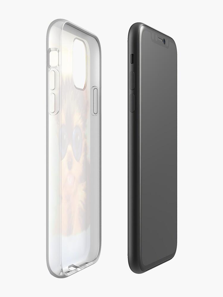 Coque iPhone «Chiot arc-en-ciel aux yeux larges», par JLHDesign