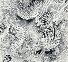 Ink painting dragon 180411 JAPAN by yakudo-kan