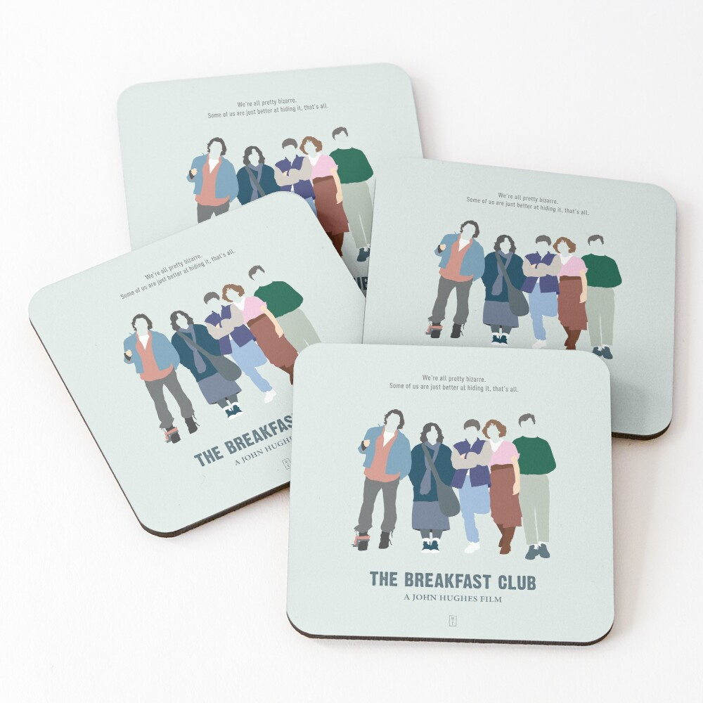 The Breakfast Club Coasters (Set of 4)