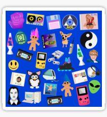 90s ICONS blue Sticker